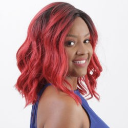 Peruca Front Lace Wig - ADRIELE - Vermelho